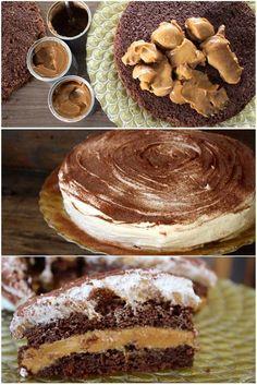 Bolo de Chocolate e Doce de Leite, é um dos meus bolos preferidos na vida! Bolo fofo, repleto de sabor. Três truques o tornam especial: a massa que leva 1 caixinha de creme de leite, o recheio qu…