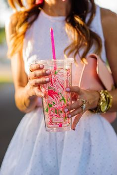 @lillypulitzer travel tumbler | source: sequins & things
