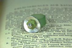 Ringe - PVC-Ring grün - silber - ein Designerstück von DaiSign bei DaWanda