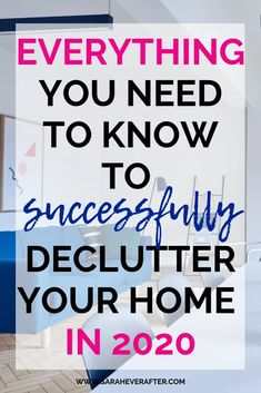 The Complete Guide to Decluttering Your Home - Sarah Ever After Make 2020 the year you conquer clutter for good! This guide to decluttering your home answers all of your decluttering questions so you can get your home tidy and organized in Declutter Home, Declutter Your Life, Organizing Your Home, Organising, Clutter Organization, Home Organization Hacks, Bedroom Organization, Kitchen Organization, Household Organization