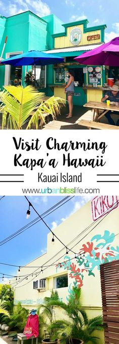 Kapaa Hawaii is a charming small town on the island of Kauai. It's a lovely place to visit for a morning or an afternoon of great shopping, eating, and exploring. Get Hawaii travel tips and … Kauai Vacation, Honeymoon Vacations, Hawaii Honeymoon, Hawaii Travel, Travel Usa, Italy Travel, Vacation Ideas, Nice Travel, Funny Travel