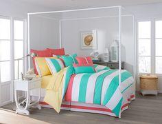 The Cabana Stripe Comforter Set by Southern Tide