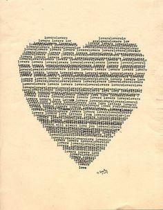 :heart type love