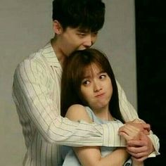 Is he biting her? I love lee Jong Suk Lee Jong Suk Funny, Lee Jung Suk, Han Hyo Joo Lee Jong Suk, W Korean Drama, Drama Korea, Park Shin Hye, W Two Worlds Wallpaper, Kang Chul, Korean Couple