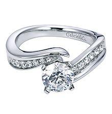 Gabriel & Co. diamond engagement ring