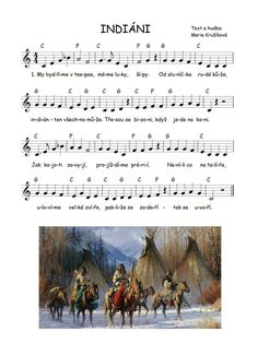 Sheet Music Art, Indian Crafts, Kids Songs, Music Notes, Native American, Kindergarten, Preschool, Education, Sheet Music