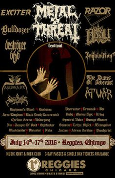 Long Live The Loud 666: METALTHREAT FESTIVAL WITH:RAZOR,EXCITER,DESTROYER6...