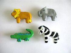 Zebra Drawer Knob   ceramic pull for dresser drawers kids by Knobs, $8.00