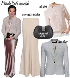 Style inspiration from actress / director Michelle Yeoh    http://www.venusbuzz.com/archives/25049/fashion-friday-dressing-up-la-asian-icons/