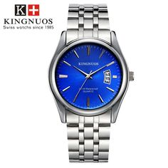 Features and specifications: Dial - Shape: Round - Movement type: Quartz - Display type: Pointer - Pointer color: Silver - Dial color: Black, white, brown, blue Band - Material: Stainless Steel/leather - Clasp type: Folding clasp - Band color: Silver/black, brown Watch - Length: approx. 240 mm - Dial diameter: approx. 40.5 mm - Dial thickness: approx. 9 mm - Weight: approx. 90 g Package : 1 x watch Mens Sport Watches, Luxury Watches For Men, Cartier, Top Luxury Brands, Estilo Retro, Stainless Steel Watch, Fashion Watches, Men's Watches, Quartz Watch