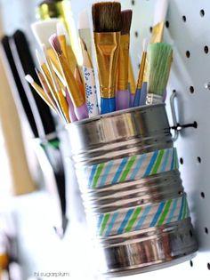 28 Brilliant Garage Organization Ideas | Tin Can Wall Storage