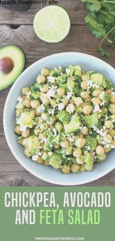 Craving for healthy vegetarian recipes but your in a rush try this chickpea avocado feta salad! it is super duper easy! probably the easiest and tastiest salad ive ever made you only need 5 minutes to make this healthy salad! Healthy Dinner Recipes For Weight Loss, Vegetarian Recipes Dinner, Salad Recipes Healthy Vegetarian, Healthy Recipes With Avocado, Salad Recipes For Dinner, Supper Recipes, Healthy Organic Recipes, Recipes For Vegetarians, Easy Vegitarian Dinner Recipes