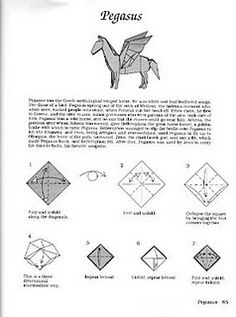 Origami Instructions For Pegasus