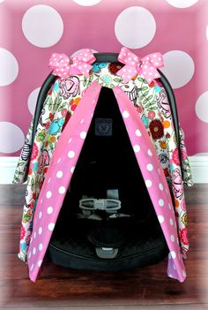 JUNGLE, GIRL, car seat cover canopy, infant car seat cover, hot pink, polka dots, damask, chevron, infant girl, baby girl, baby boy, infant on Etsy, $39.99