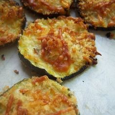 This was my original pin on pinterest. I think you'll agree it's a delicious and easy zucchini recipe. Another great use for that abundance of homegrown zucchini! Original source: Blackjack Bakehouse. http://blackjackbakehouse.com/home/2011/7/20/zucchini-parmesan-crisps.html I