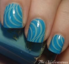 Blue and Green Barry - The Nailasaurus | UK Nail Art Blog