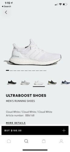 f93c074469461 Adidas Ultra Boost 4.0 Triple White Size 7 Men s Deadstock
