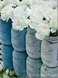 coloured jars