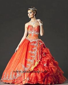 Abendmode Ballkleid 2015 Lombok in Orange
