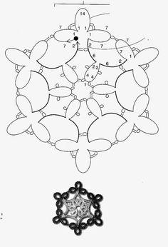 ✿ Бал снежинок фриволите ✿ или вся НОВОГОДНЯЯ ТЕМА | Кружевинки. В технике фриволите.
