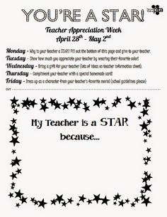Teacher Appreciation Week 2017 Flyer: Sweeten Your Day Events  Hollywood Teacher Appreciation Week Very    ,