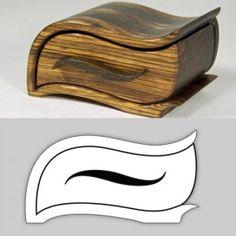 "Bandsaw Box Pattern ""Zebra"" – Make Something Wood Shop Projects, Diy Wood Projects, Wood Crafts, Box Patterns, Scroll Saw Patterns, Woodworking Box, Woodworking Projects Plans, Woodworking Videos, Plan Design"
