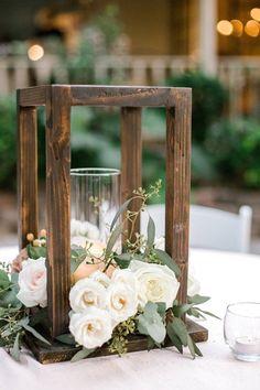 Outdoor Wedding Centerpieces, Outdoor Wedding Venues, Lantern Centerpieces, Wedding Decor Rentals, Rustic Wedding Tables, Wooden Crates Wedding, Farmhouse Table Centerpieces, Centrepieces, Flower Centerpieces