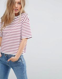 ASOS T-Shirt In Stripe In Relaxed Fit