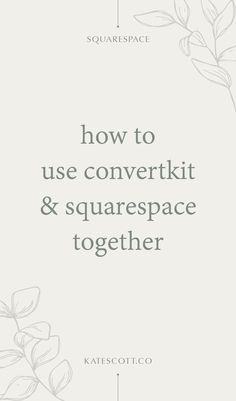 Want to know how to connect ConvertKit and Squarespace? Here are 3 video tutorials to help you out! | Squarespace Tutorial Videos | ConvertKit Tutorial | Squarespace Tips and Tricks | Squarespace Website Design | Email Marketing Tips | Email Marketing Strategy Business Website, Business Tips, Creative Business, Online Business, Email Marketing Strategy, Online Marketing, Media Marketing, Generate Key, Smart Strategy