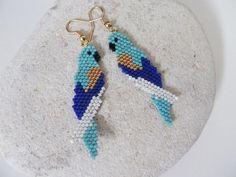 Beaded Earrings Patterns, Beading Patterns Free, Seed Bead Earrings, Beading Tutorials, Jewelry Patterns, Bead Jewellery, Beaded Jewelry, Handmade Jewelry, Art Perle