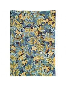 CompanyC Avalon Floral Hand-Hooked Wool Indigo Area Rug Rug Size: Rectangle x Yellow Area Rugs, Beige Area Rugs, Company C Rugs, Dash And Albert, 8x10 Area Rugs, Transitional Rugs, Rug Hooking, Floor Rugs, Handmade Rugs