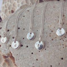 Handmade Sterling Silver Personalised Pebble by JasmineBowdenShop