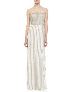 Lovey Beaded Strapless Maxi Dress by Parker at Neiman Marcus.