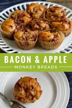 Bacon & Apple Monkey Breads : jonesdairyfarm #muffins