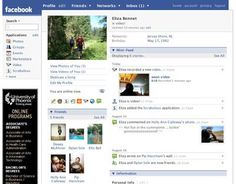 The upper section of a member profile contains the profile picture and an application sidebark.