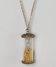 Another great find on #zulily! Gold 'Love' Vial Pendant Necklace by Sugar & Savannah #zulilyfinds