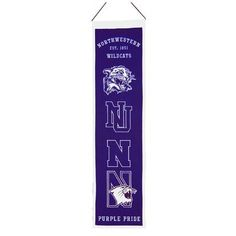 Winning Streak NCAA Heritage Northwestern University Wildcats Banner Wall Décor