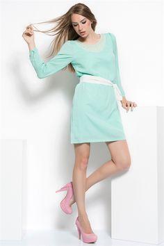 İRONİ YAKA TAŞLI ELBİSE (5832-758 MINT) 59,90 TL #mint #elbise #kollu #kısaelbise #fashion #mıntelbise #modasenınlevar #sale #bayan #giyim #bayanelbise #woman #turkey #istanbul  http://allmisse.com/ironi-yaka-tasli-elbise-17734