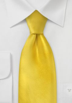 Solid Necktie in Bright Yellow
