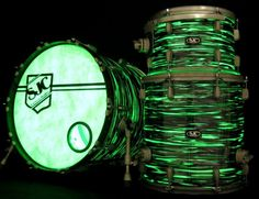 custom drumheads | Zac Hanson's custom SJC Drum kit. Check it out on ... | Drum Heads