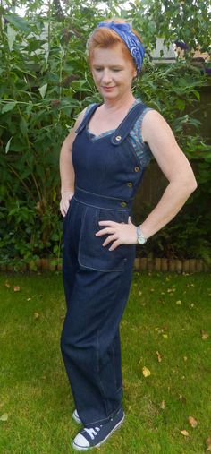 Wearing History sewing patterns - WWII homefront overalls