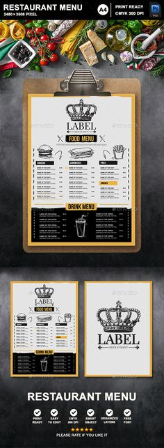 Buy Restaurant Menu by Fourm on GraphicRiver. Suitable for any ethnic cafe or related to restaurant business. Menu has been created using tables and cells for easy. Food Web Design, Learn Web Design, Food Truck Design, Carta Restaurant, Restaurant Menu Design, Diner Menu, Bbq Menu, Food Truck Menu, Food Truck Festival