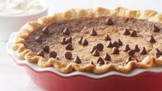 Chocolate Chip Caramel Pie - Like pecan pie filling with chocolate chips instead of pecans. Sounds so good!