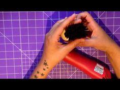 Como hacer cabello con tupé para fofucho - YouTube
