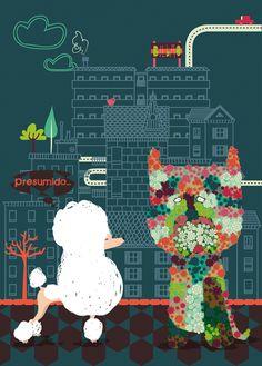 """✎ Postales """"I Love Euskadi"""" de @saludosalpollo #creatividad #diseño"""