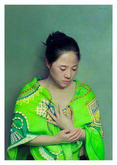 Wei Han  Green Clothes  2013  130 x 90 cm