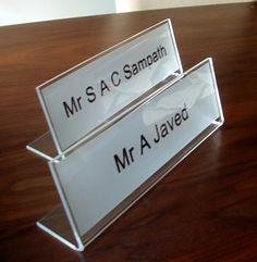 Office desk signs name plates for desks http://www.de-signage.com/Officesigns.php