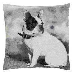 Kissenbezug Kissenhülle Hund grau 60 x 60 cm Clayre & Eef...