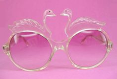 Vintage 70s Swan Sunglasses. Oh yeah. I would rock these at the pool