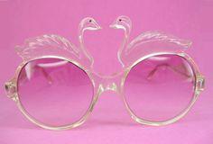 Vintage 70s Swan Sunglasses Eyewear Rare by Vintage50sEyewear